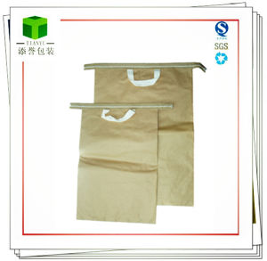 Handheld Seam Bottom Kraft Paper Bag for Iron Oxide Yellow pictures & photos