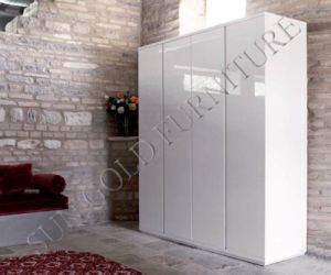 Bedroom Wardrobe in Beautiful White Gloss Lacquer (SZ-WD091) pictures & photos