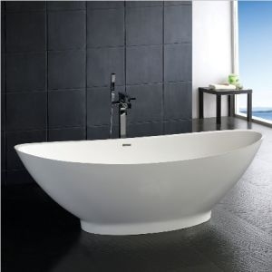 Acrylic Solid Surface Freestanding Bathtub (OE006) pictures & photos