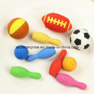 Bowling, American Football, Socer, Basketball Erasers pictures & photos