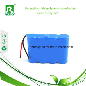 Li-ion Icr18650 14.8V 2200mAh Battery Pack with Connector