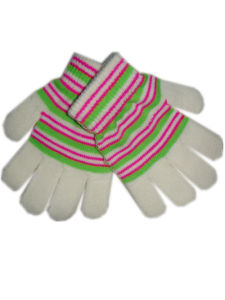 Knitted Magic Unisex Five Fingers Striped Glove pictures & photos