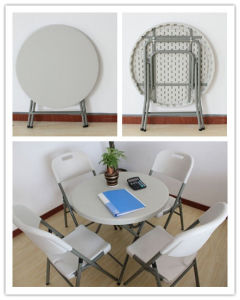 Cheap Small Round Plastic Folding Table (SY-60Y) pictures & photos