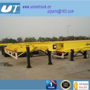 Container Transportation/ 3axle Skeleton Semi Trailer/Bone Semitrailer pictures & photos