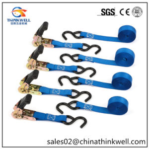 11000lbs Ratchet Tie Down Strap with S Hooks pictures & photos