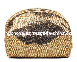 Shiny Glitter Gold PU Cosmetic Bag / Fashion Bag (KCC46) pictures & photos
