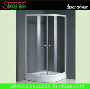 Corner Transparent Glass Sliding Simple Bathroom Shower House (TL-518) pictures & photos