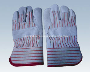Cow Split Leather Working Gloves 1108 pictures & photos