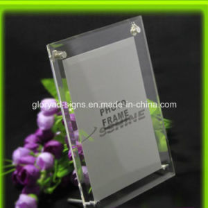 Custom Handmade Size and Logo Clear Magnetic Acrylic Photo Frame pictures & photos
