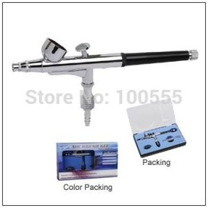 New 0.3mm Dual-Action Airbrush Gun Gravity Paint Tattoo (PR-137) pictures & photos