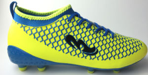 PU Football Shoe with Spandex Sock and Transparent Sole pictures & photos