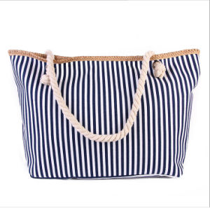 Fashion Striped High-Capacity Canvas Bag Will Carry Casual Canvas Shoulder Bag pictures & photos