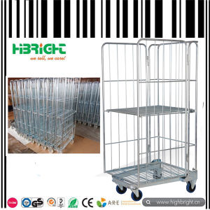 3 Sided Roll Container Roll Cage Laundry Cart pictures & photos