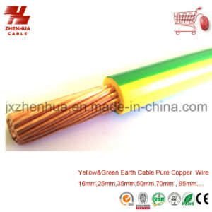 70mm 95mm 120mm PVC Green and Yellow Cooper Cable Manufacturer pictures & photos