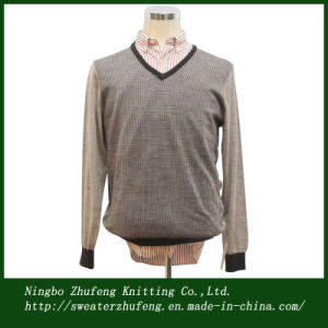 Men′s Jacquard Pullover Sweater Nbzf0040