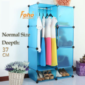 Blue Plastic DIY Storage Cbinet with Many Colors Available (FH-AL0523-3) pictures & photos