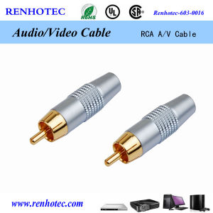 Transparent 5mm PVC 2r to 2r RCA Cable pictures & photos