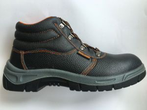 Upper Split Embossed Leather Sole PU Work Safety Shoe
