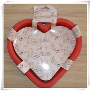 Silicone Cake Baking Pan with Heart Shape (VR14009)
