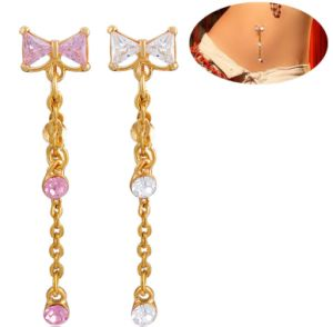 Gold Belly Ring Rewind Triangle CZ Stone Piercing Fashion Jewellery pictures & photos