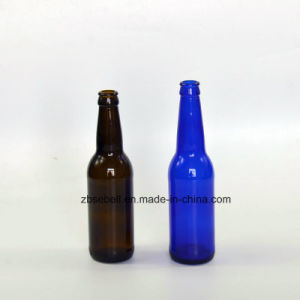 330ml Amber, Blue Color Glass Beer Bottle pictures & photos