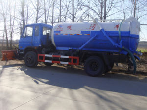 Dongfeng 4X2 Sewage Sucking Truck/ 10cbm Sewage Suction Tanker Truck pictures & photos