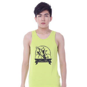 Cheap Price Cotton Y-Back Singlet with Custom Printing pictures & photos