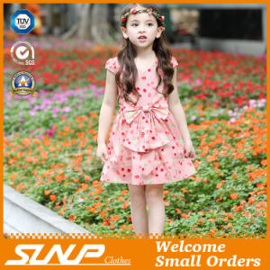 High Quality Girls Flowers Dress Sleeveless Children Skirt