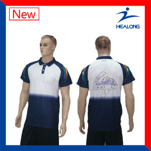 Healong Top Sale Sportswear Quilted and Embroidery Men Polo Shirt pictures & photos