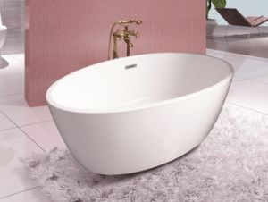 1500X750X560mm Oval Freestanding Seamless Acrylic Bathtub pictures & photos