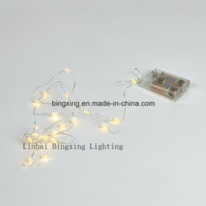 2m LED Battery Operated Cooper Wire Lights for Wedding Garden Holiday Christmas Decoration