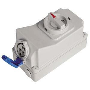 16A 3p IP44 Electric Waterproof Interlocked Receptacle Switch pictures & photos