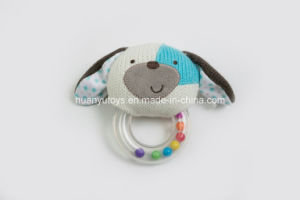 Knitting Fabric Baby Puppy Handbell Toy pictures & photos