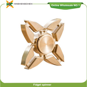 Innovative New Product Copper Material Antistress Finger Fidget Toy Spinner pictures & photos