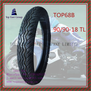 High Quality, Tubeless ISO Nylon 6pr Motorcycle Tyre with Size 90/90-18tl pictures & photos