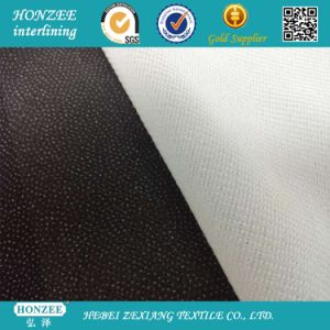 Woven Fusible Waterjet Interlining 70GSM with Pes Coating pictures & photos