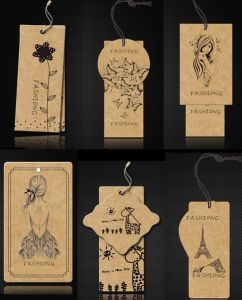 Cardboard Garment String Hang Tag for Clothing pictures & photos