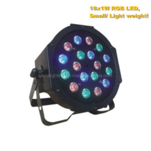 Plastic 18X1w RGB LED Flat PAR Light pictures & photos