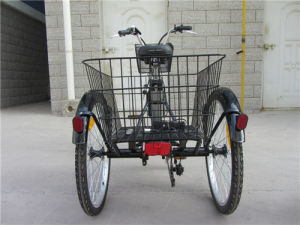 Electric Bicycle with Three Wheels pictures & photos