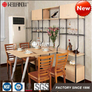 2017 New Patent DIY Design Steel-Wooden Kitchen Metal Furniture for Dining Room Storage Furniture