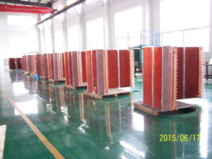 7mm Riffled Copper Tube CO2 Refrigerant Louvered Fin Heat Exchanger pictures & photos