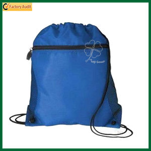 with Front Zipper Pocket Drawstring Backpack Bag (TP-dB046) pictures & photos