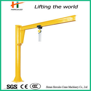 Ground Column Mounted Jib Crane with Hoist pictures & photos