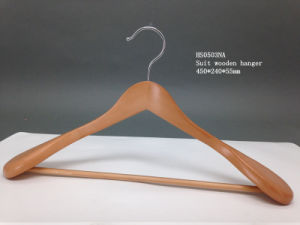 Fsc/BSCI Certification Natural Color Wooden Clothes Hanger Hangers for Jeans pictures & photos