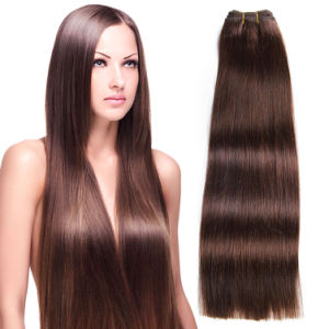 Machine Weft Double Drawn Quality 100% Virgin Straight Human Hair pictures & photos