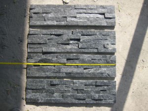 Black Quartz Culture Stone Wall Panels (SMC-SCP118) pictures & photos