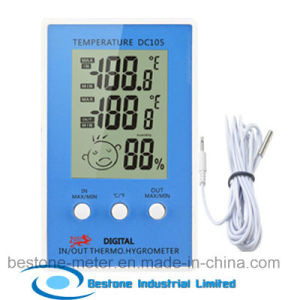 Hygro-Thermometer Clock with Indoor and Outdoor Temperature (DC105) pictures & photos