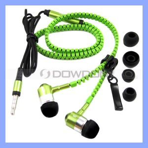 3.5mm Fashion Stereo Zipper Earphone with Mic for iPhone iPad Samsung Tablet PC pictures & photos