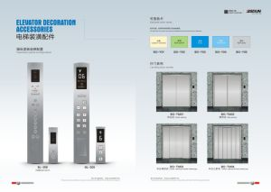 Machine Room Passenger Elevator with Titanium Mirror Stainless Steel Lift Car pictures & photos