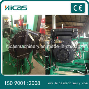 Woodworking Machinery Portable Sawmill Horizontal Cutting Band Saw for Sale pictures & photos
